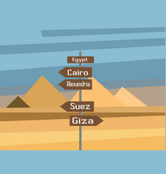 Egypt map country infographics sign vector