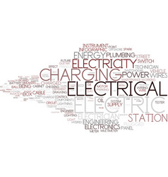 Electrical word cloud concept vector