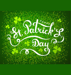 elegant happy st patricks day greeting card vector image