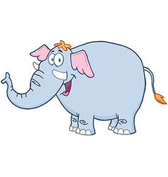 Elephant Cartoon Mascot Character vector image