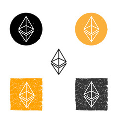 Ethereum - symbol of digital crypto vector
