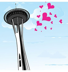 famous space needle an observation tower vector image