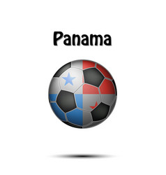 Flag of panama in the form of a soccer ball vector