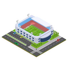 football arena isometric view vector image