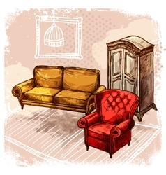 Furniture Sketch vector image