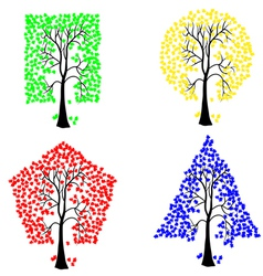 geometric shape tree vector image