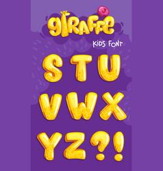 giraffe font 3set vector image