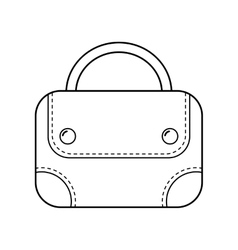 Hand bag isolated Linear flat icon object vector