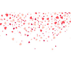 heart confetti falling down isolated vector image
