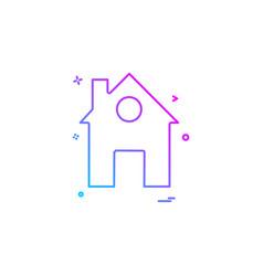 home house icon design vector image