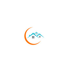 Home roof company logo vector