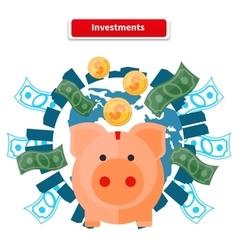 Investment Piggy Bank vector