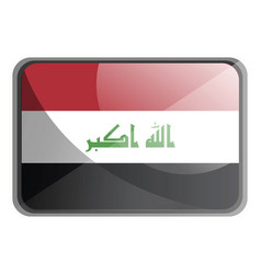 iraq flag on white background vector image