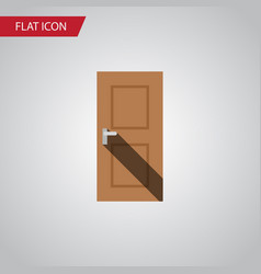 Isolated door flat icon entrance element vector