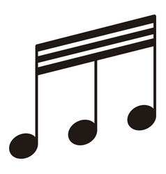 Isolated thirty-second beamed note musical note vector