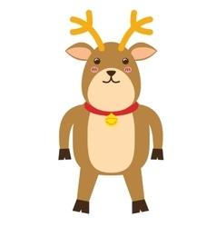 Kawaii deer icon Merry Christmas design vector