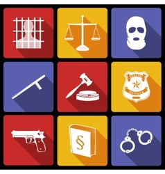 Law and Justice Icons Flat vector image