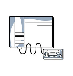 Line videogame console toplay and enjoy vector