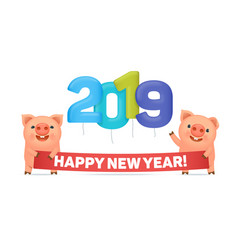 little funny pigs vector image