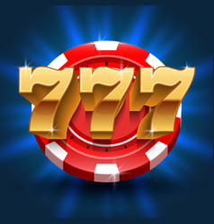 Lucky 777 numbers win slot background vector