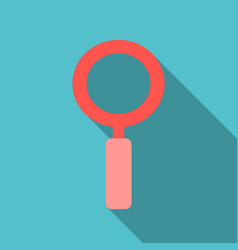Magnifying glass icon flat style for search focus vector