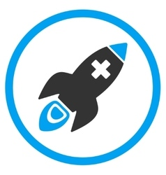 Medical Rocket Rounded Icon vector