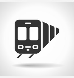 monochromatic train icon with hovering effect vector image