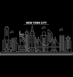 new york city silhouette skyline usa - new york vector image