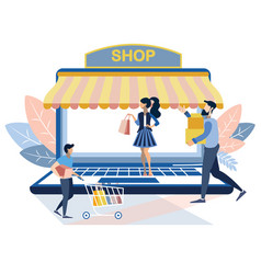 online store technology vector image