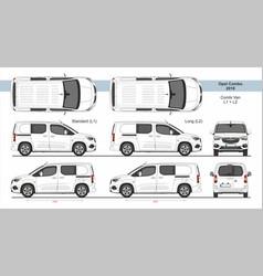 Opel combo combi van l1 l2 2018-present vector