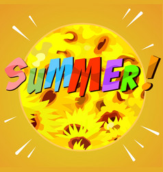 painted abstract summer background with yellow vector image