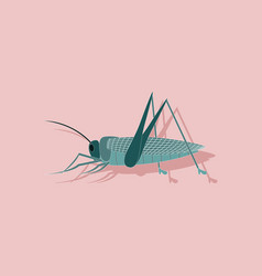 Paper sticker on background of grasshopper vector