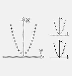 parabole plot mesh 2d model and triangle vector image