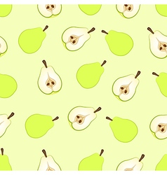 pear seamless vector image vector image
