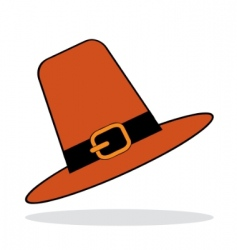 Pilgrim hat with grey shadow vector