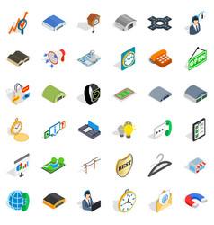 Procurement activity icons set isometric style vector