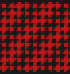 Red lumberjack pattern vector