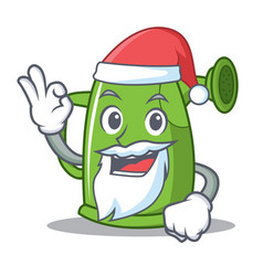 santa watering can character cartoon vector image