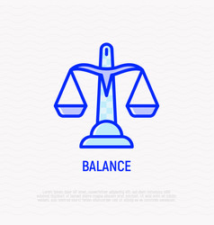 scales thin line icon modern vector image