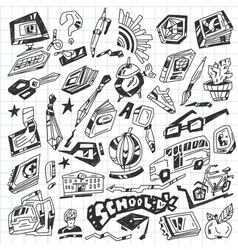 School - doodles vector image