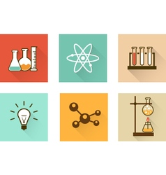 Scientific laboratory flat icons vector image