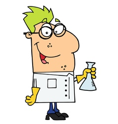 Scientist Carrying A Flask vector image