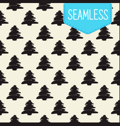 seamless pattern of black vector image