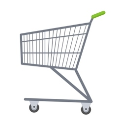 Shopping carts icon flat style metal trolley vector