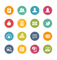 social icons - fresh colors series vector image