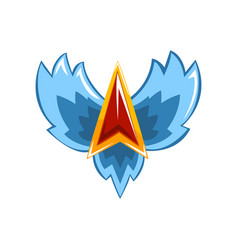 Symbol of trophy emblem with wings vector