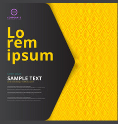 Template layout cover design on yellow hexagon vector