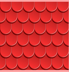 Texture red shingles red roof vector