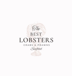 the best lobsters crabs and prawns abstract vector image