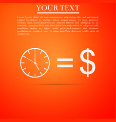 time is money sign icon effective time management vector image
